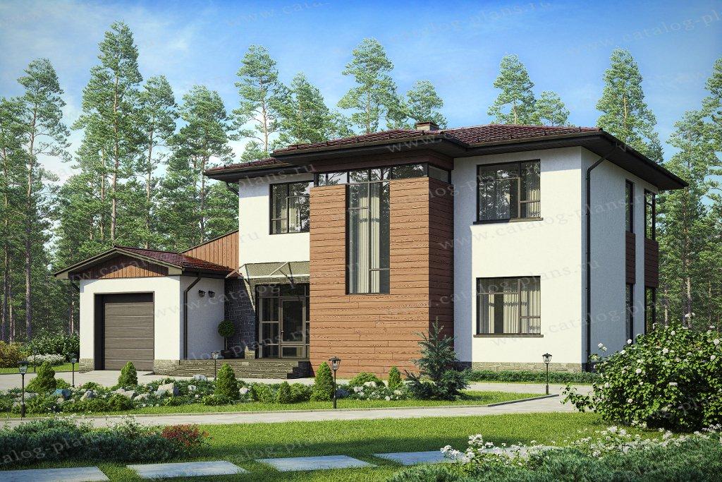 Проект жилой дом #40-91L материал - кирпич, стиль