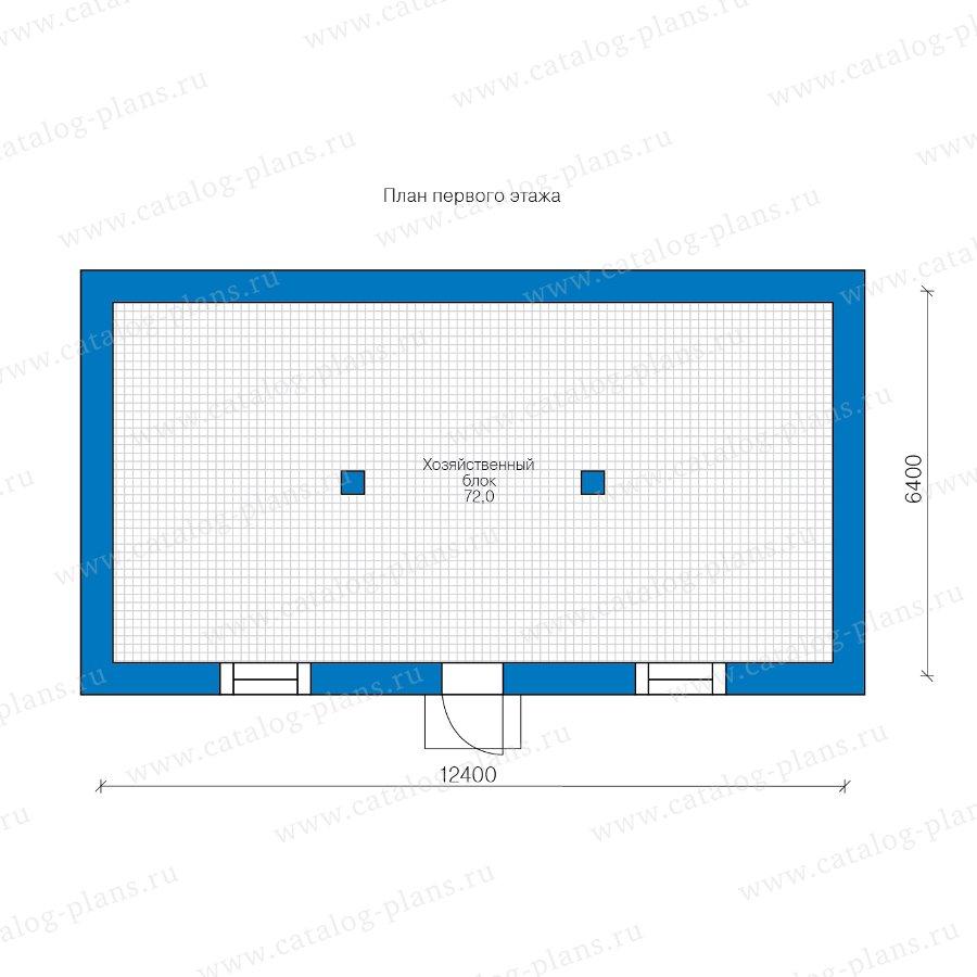 План 1-этажа проекта 90-52
