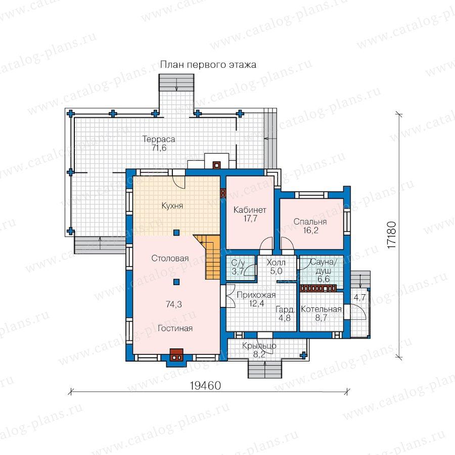 План 1-этажа проекта 62-15