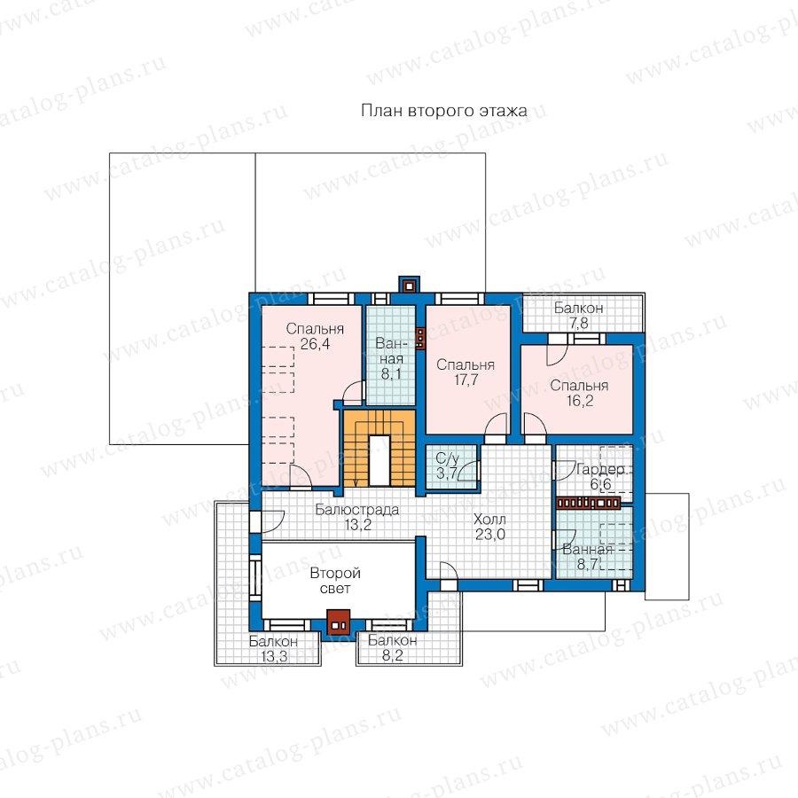 План 2-этажа проекта 62-15