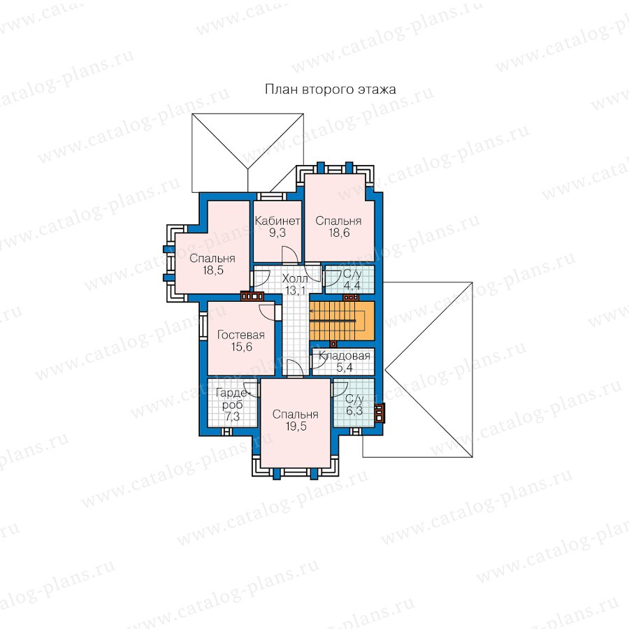 План 2-этажа проекта 58-87B