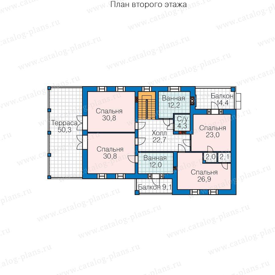 План 3-этажа проекта 40-85L