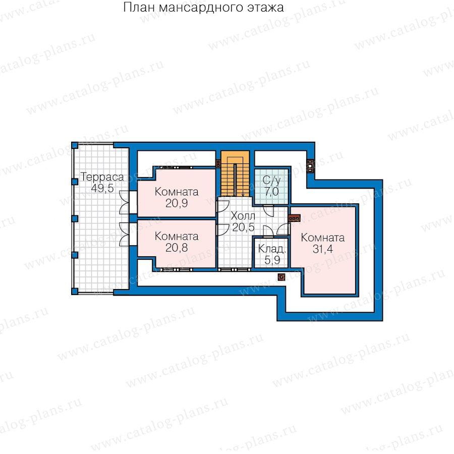 План 4-этажа проекта 40-85L