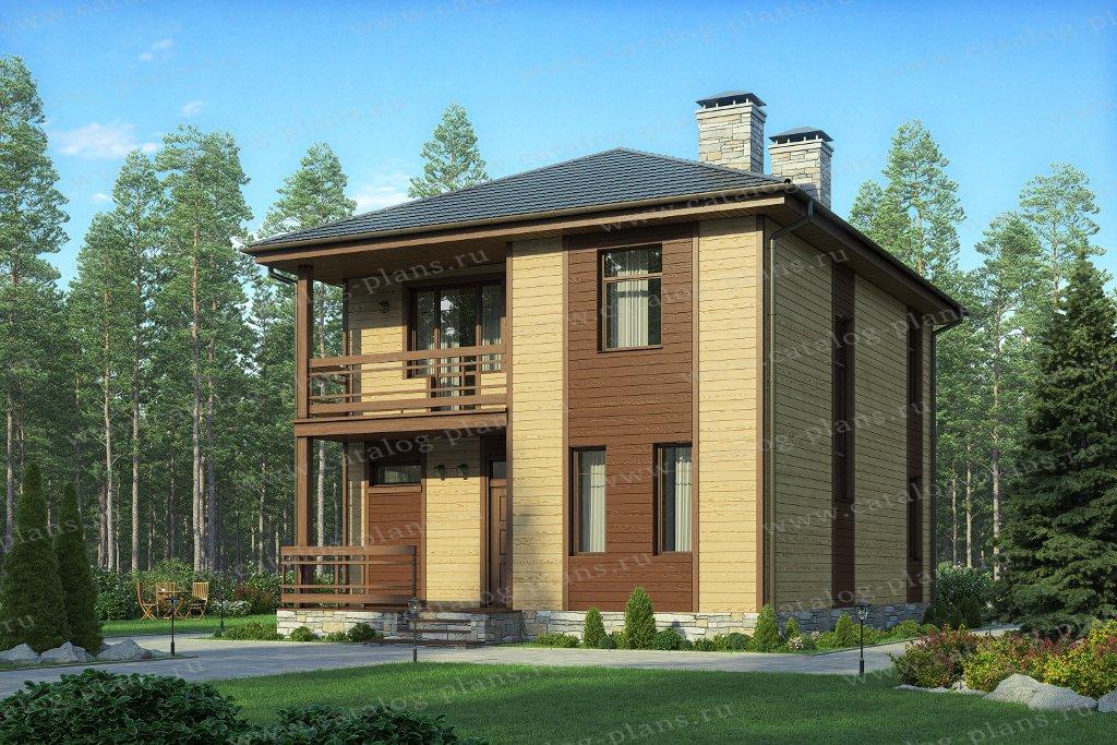 Проект жилой дом #57-07DКедрал материал - газобетон, стиль