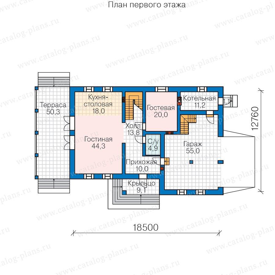 План 2-этажа проекта 40-85L