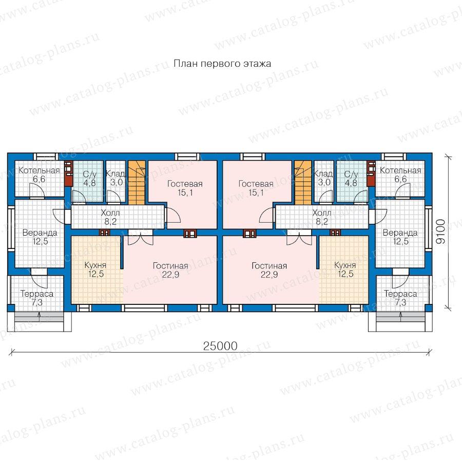 План 1-этажа проекта 57-26W