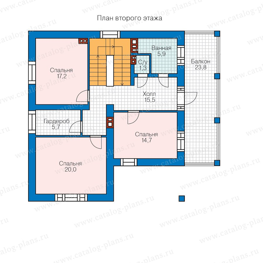 План 2-этажа проекта 45-00