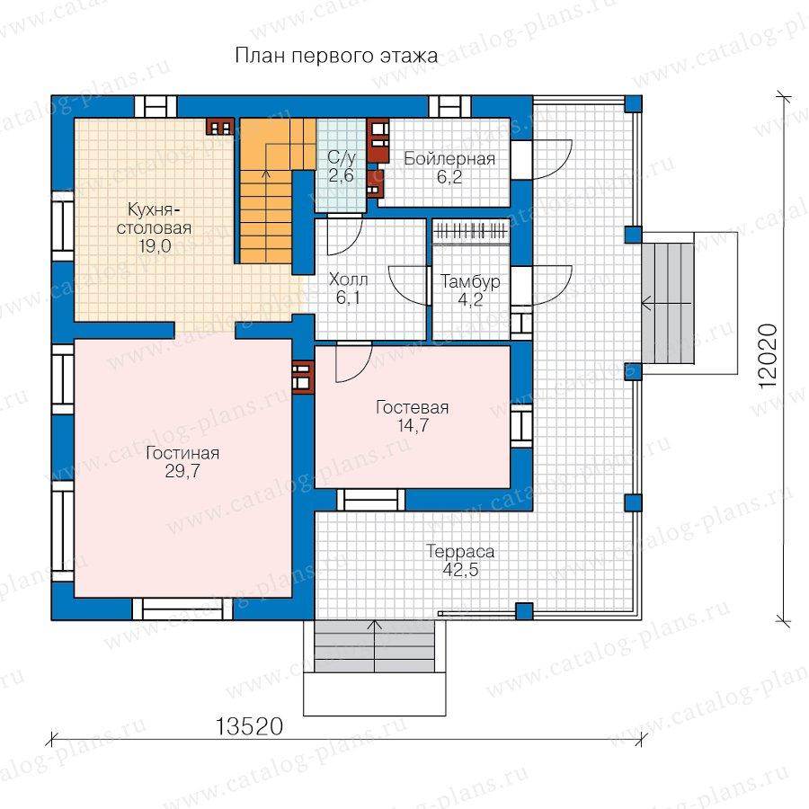План 1-этажа проекта 45-00