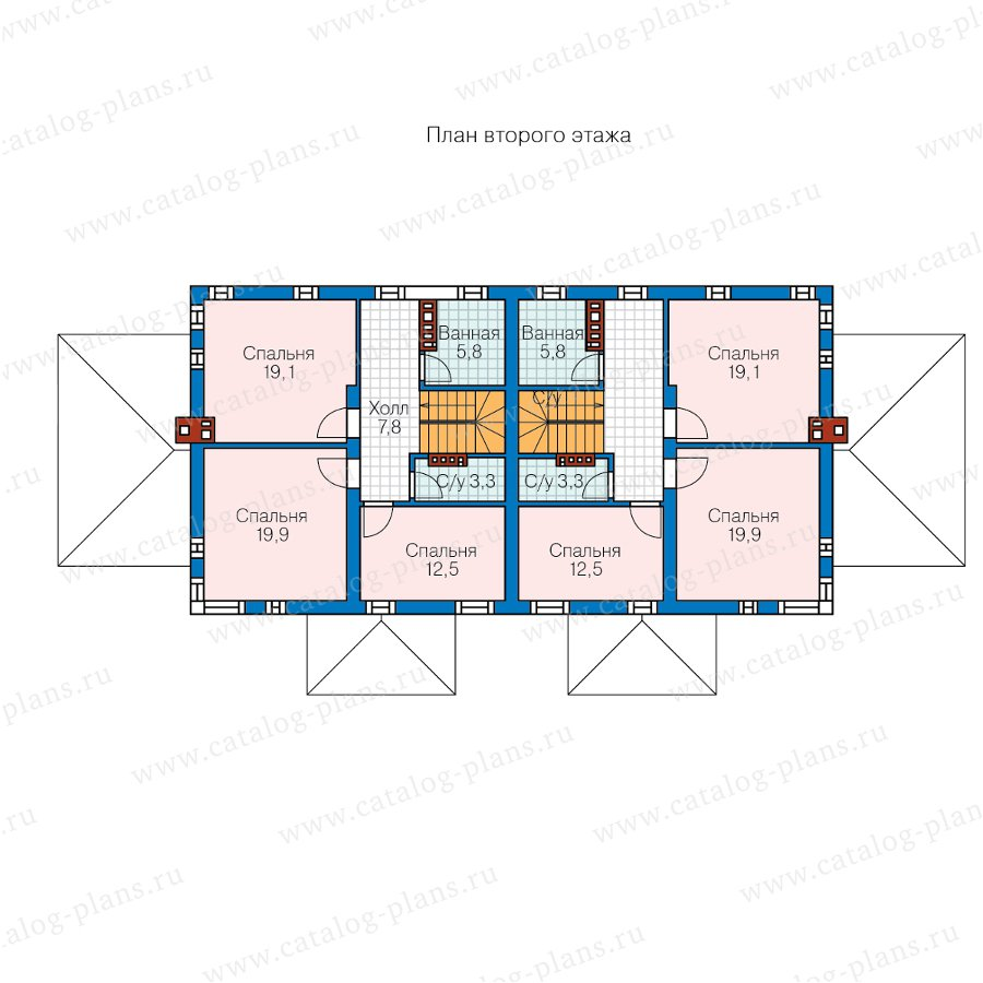 План 2-этажа проекта 59-79W