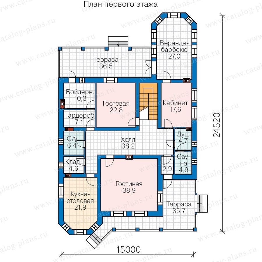 План 1-этажа проекта 57-74AL