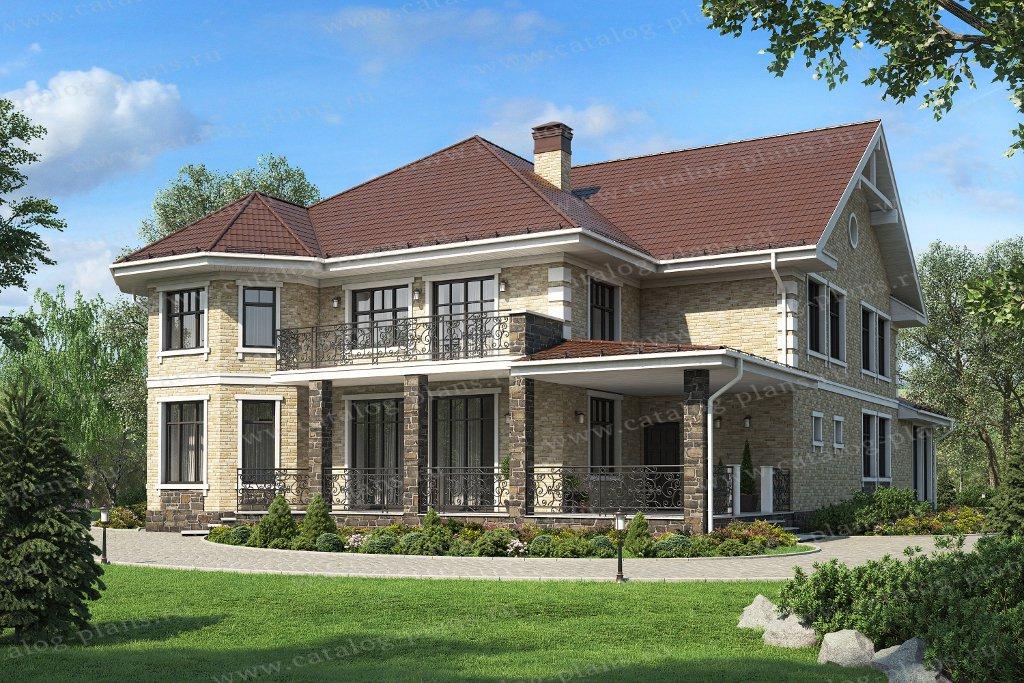 Проект жилой дом #57-74AL материал - газобетон, стиль европейский