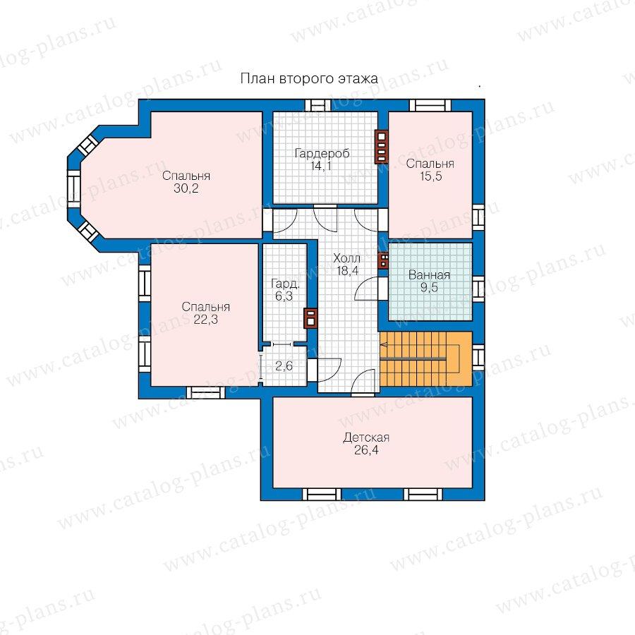 План 2-этажа проекта 57-74D