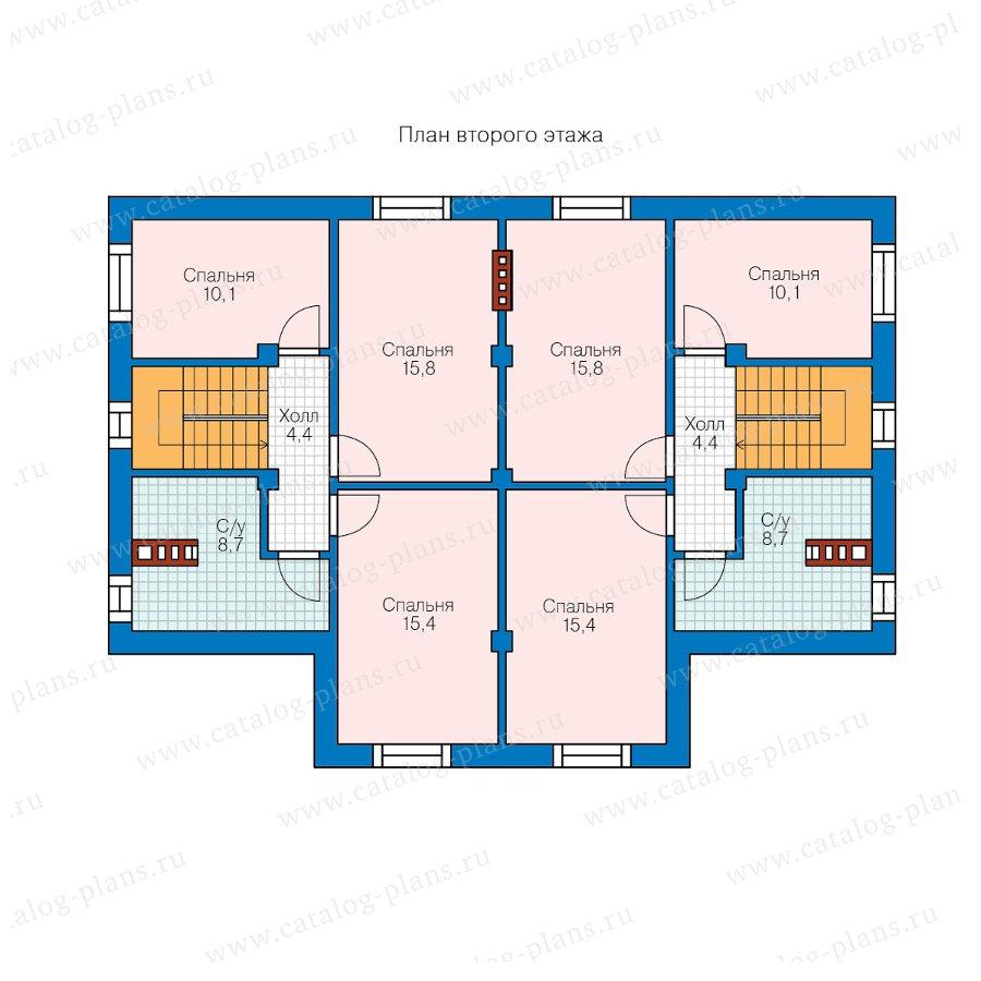 План 2-этажа проекта 58-98