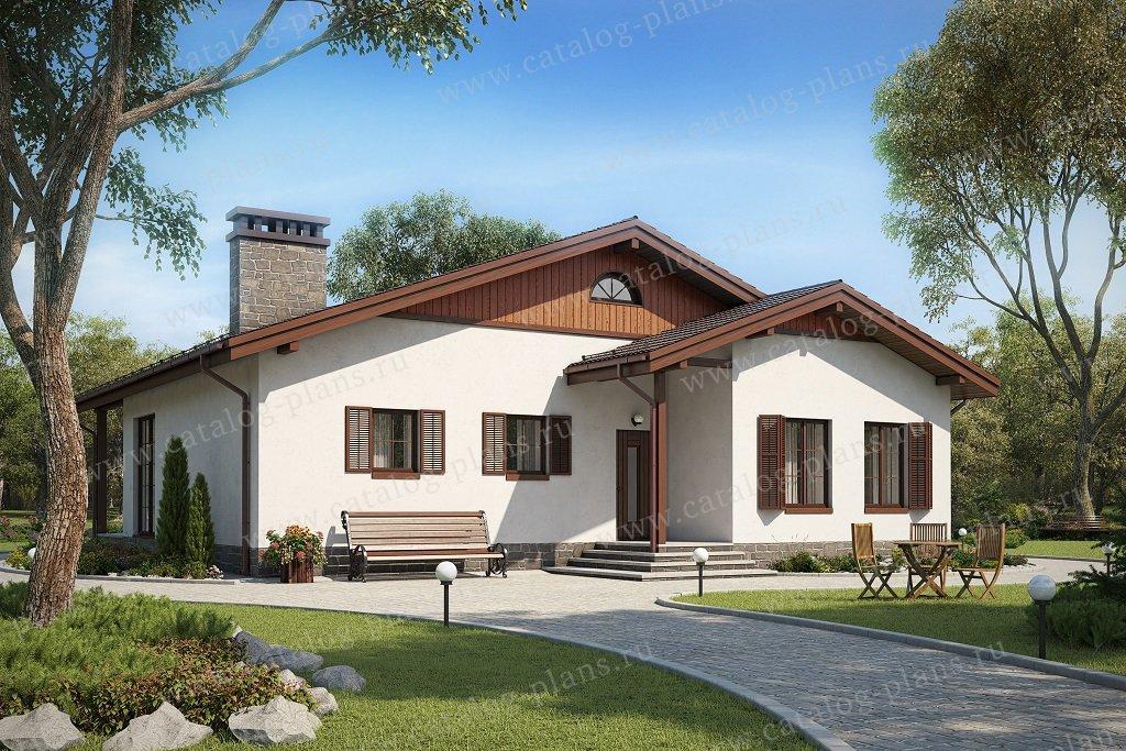 Проект жилой дом #58-70A материал - керамзитобетон, стиль шале
