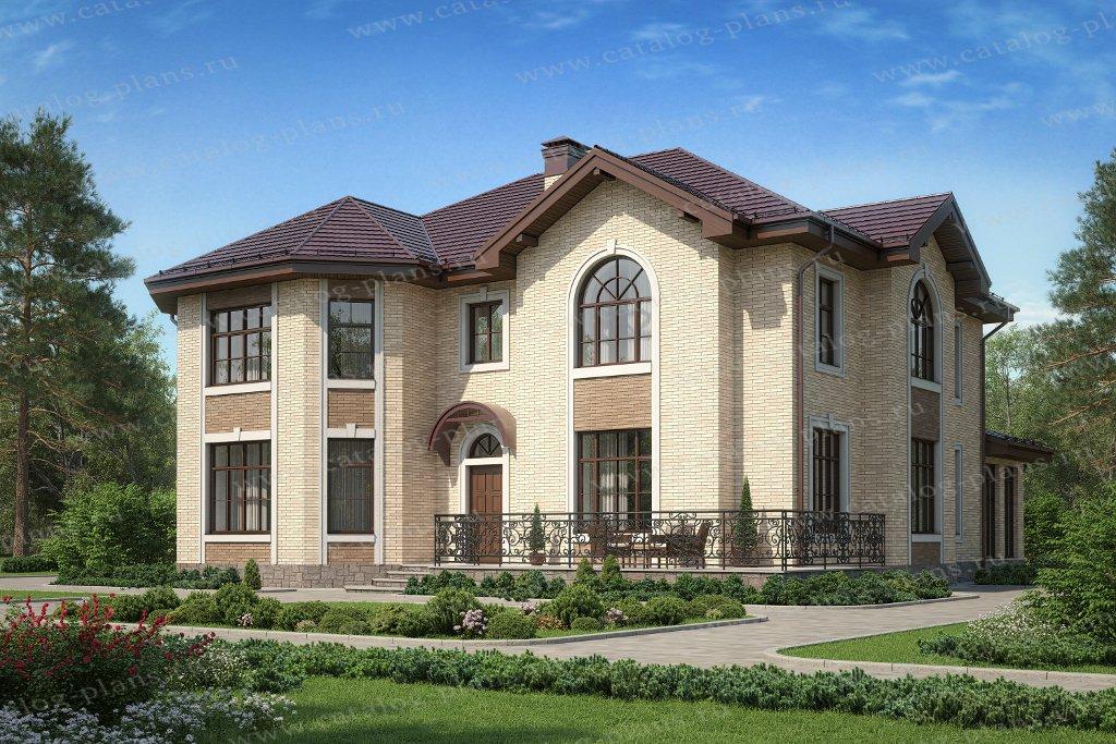 Проект жилой дом #40-49AL материал - кирпич, стиль