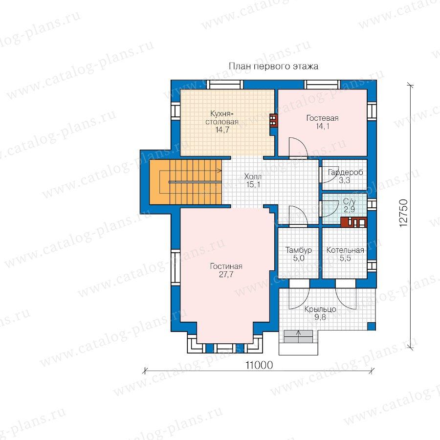 План 1-этажа проекта 58-76A