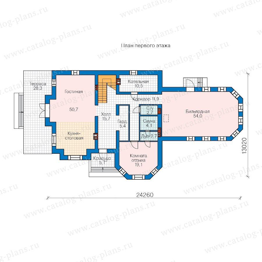 План 1-этажа проекта 48-29N