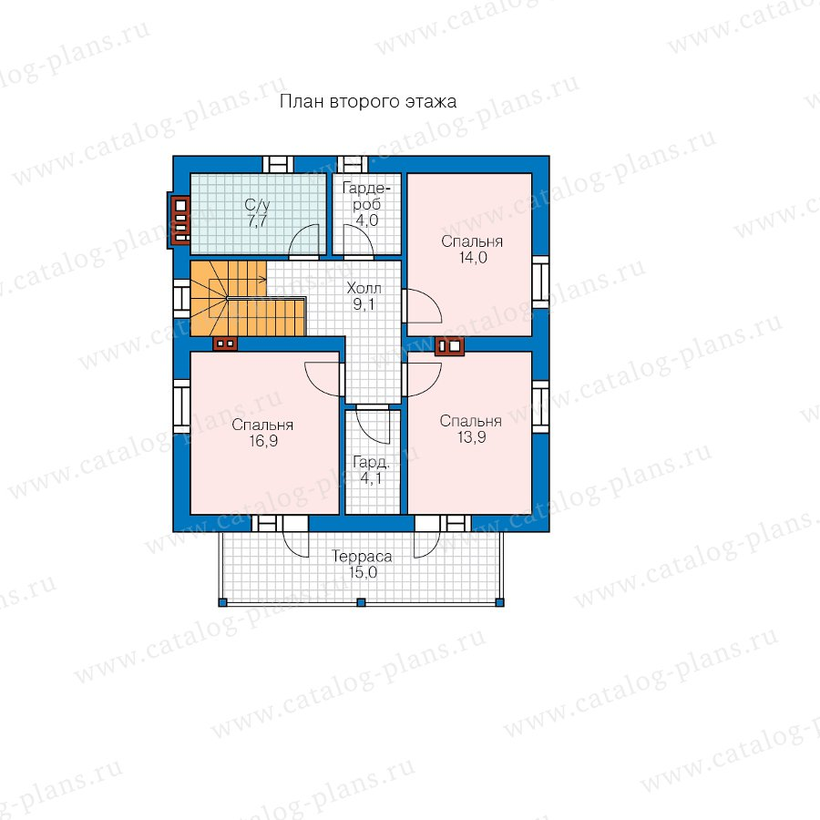 План 2-этажа проекта 58-94A
