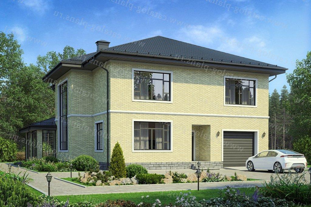 Проект жилой дом #57-54A материал - , стиль европейский