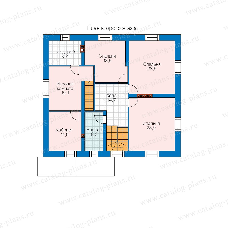 План 2-этажа проекта 40-83L