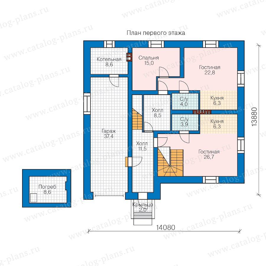 План 1-этажа проекта 40-83L