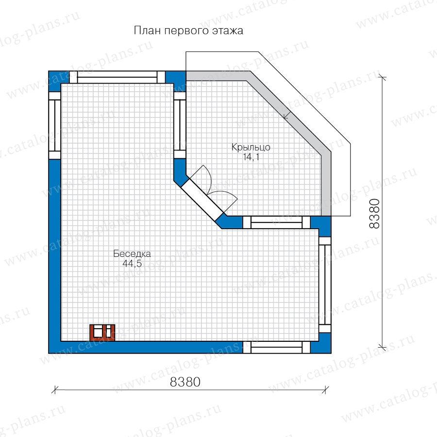 План 1-этажа проекта 90-55