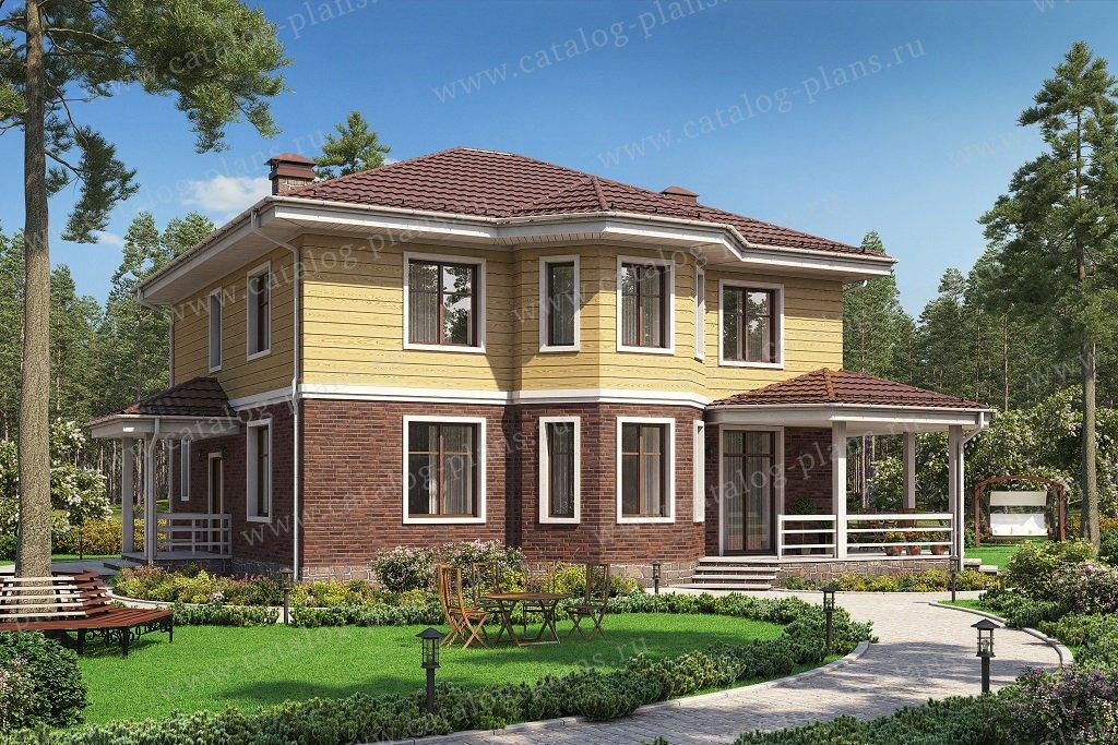 Проект жилой дом #62-12 материал - газобетон, стиль