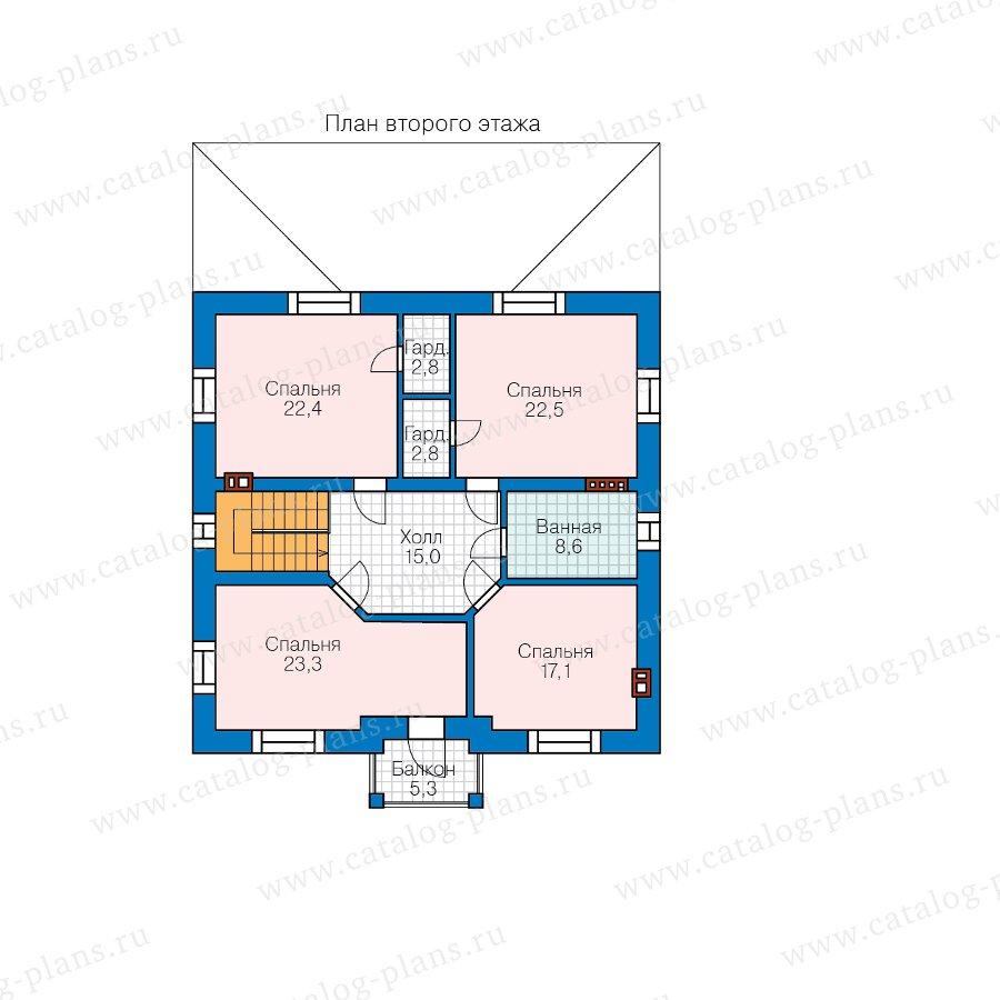 План 2-этажа проекта 45-01L