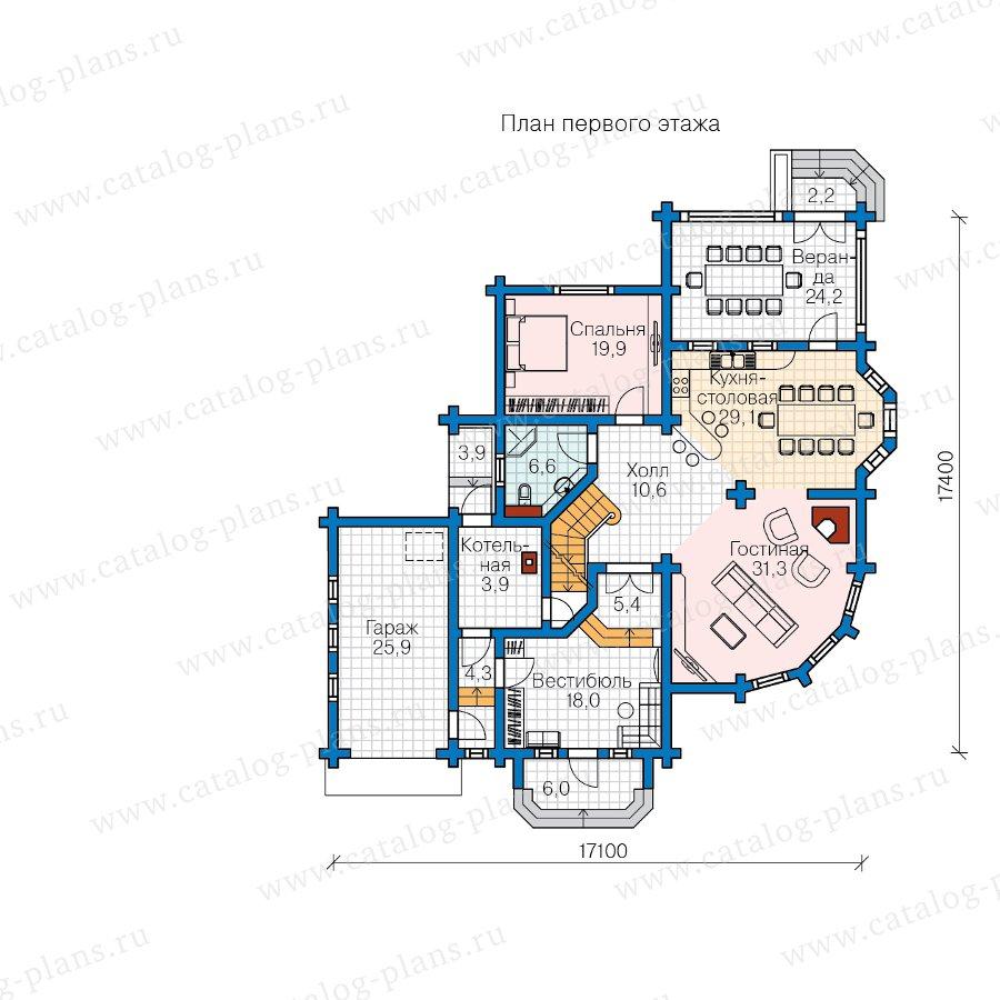 План 1-этажа проекта 13-81