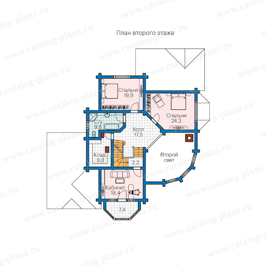 План 2-этажа проекта 13-81