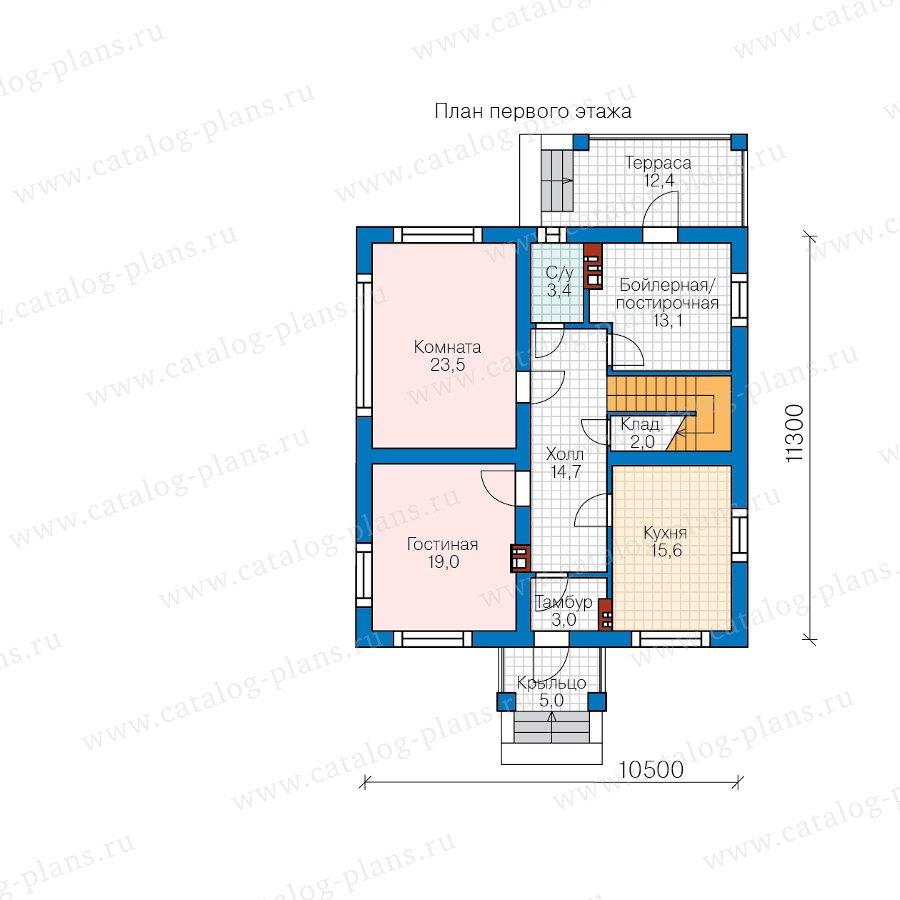 План 1-этажа проекта 57-30F