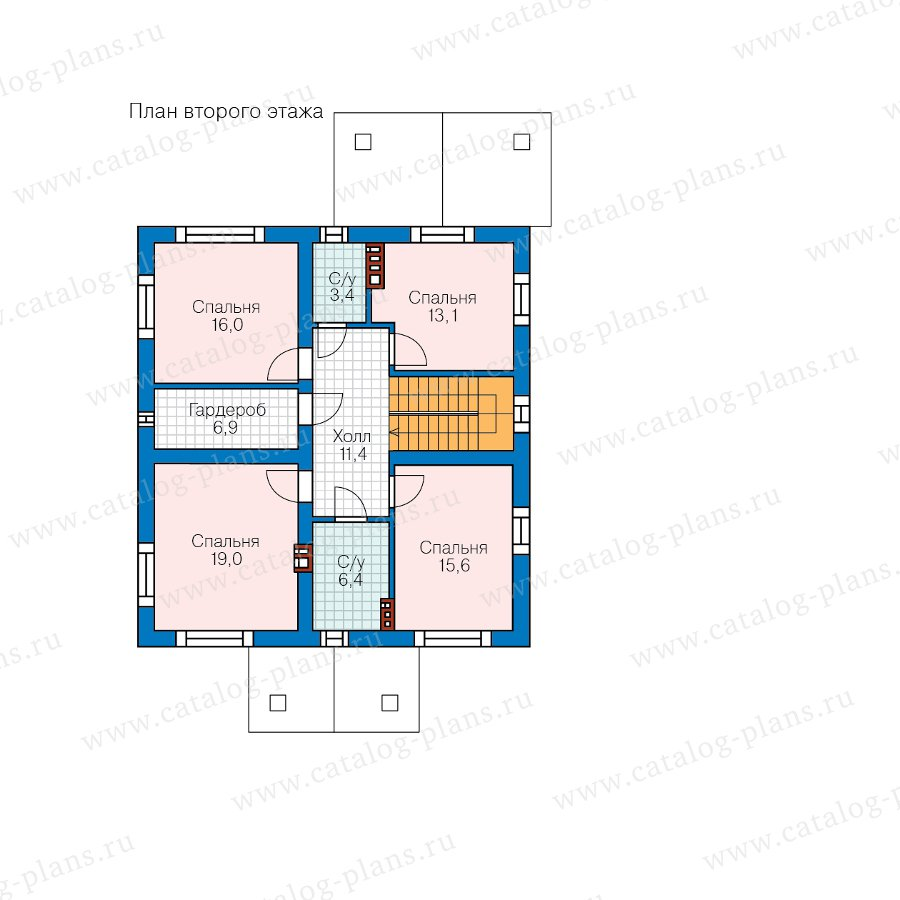 План 2-этажа проекта 57-30F