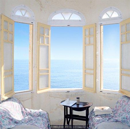 Окна с эркером
