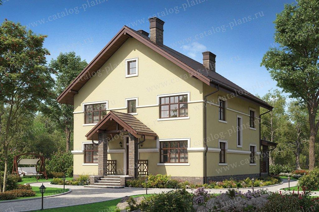 Проект жилой дом #57-30F материал - газобетон, стиль современный