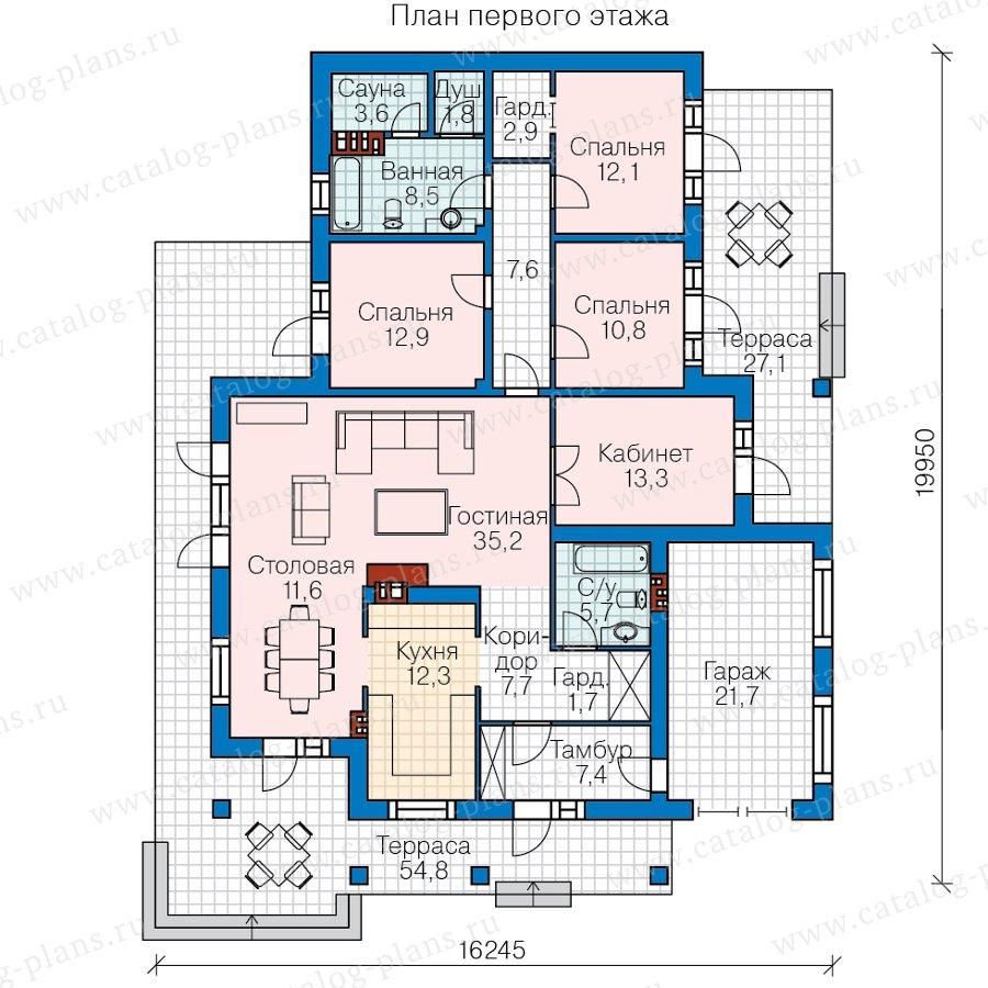 План 1-этажа проекта 62-21