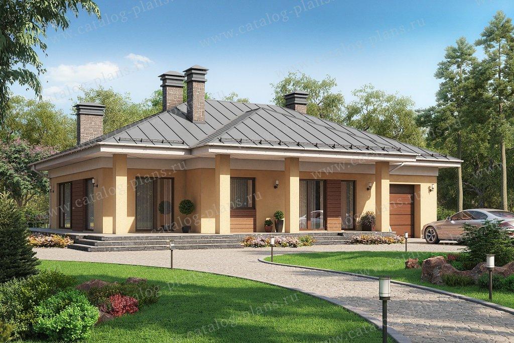 Проект жилой дом #62-21 материал - газобетон, стиль