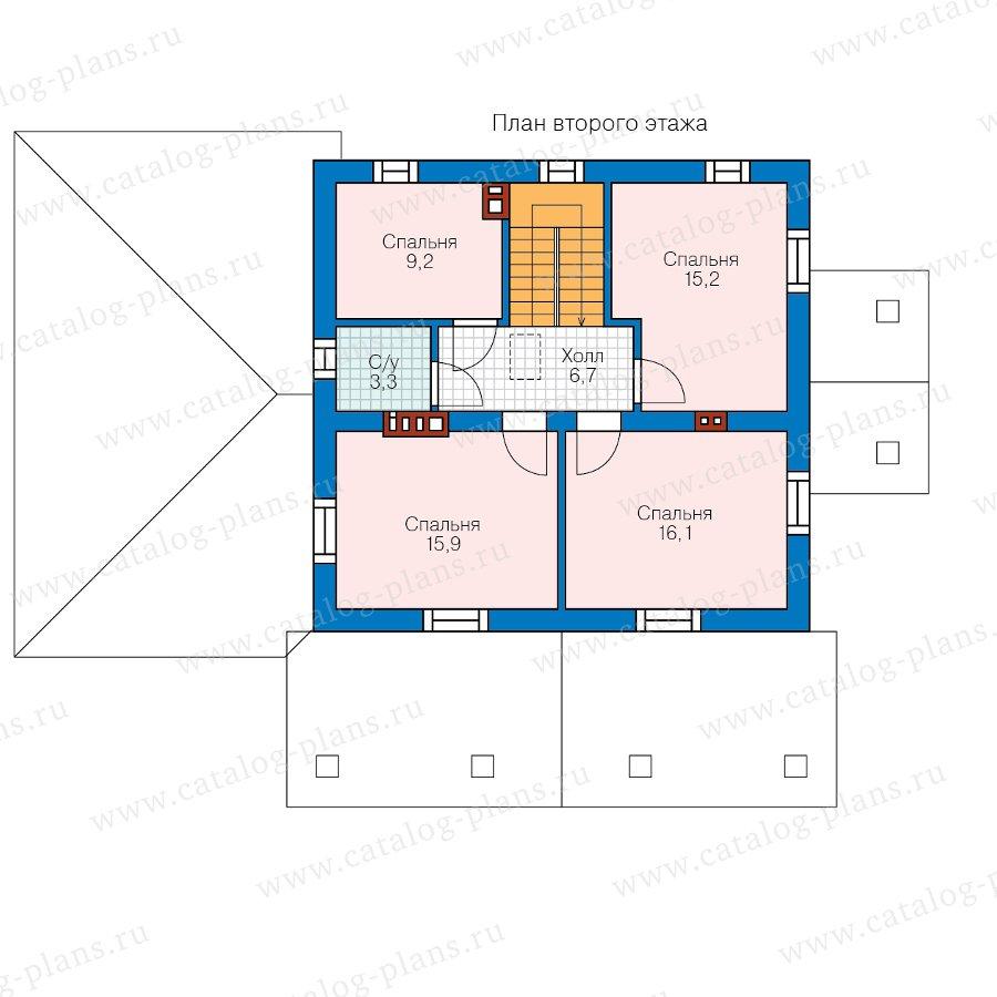 План 2-этажа проекта 40-04F