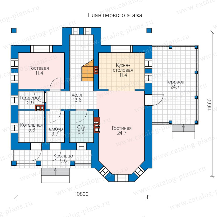 План 1-этажа проекта 57-34BL