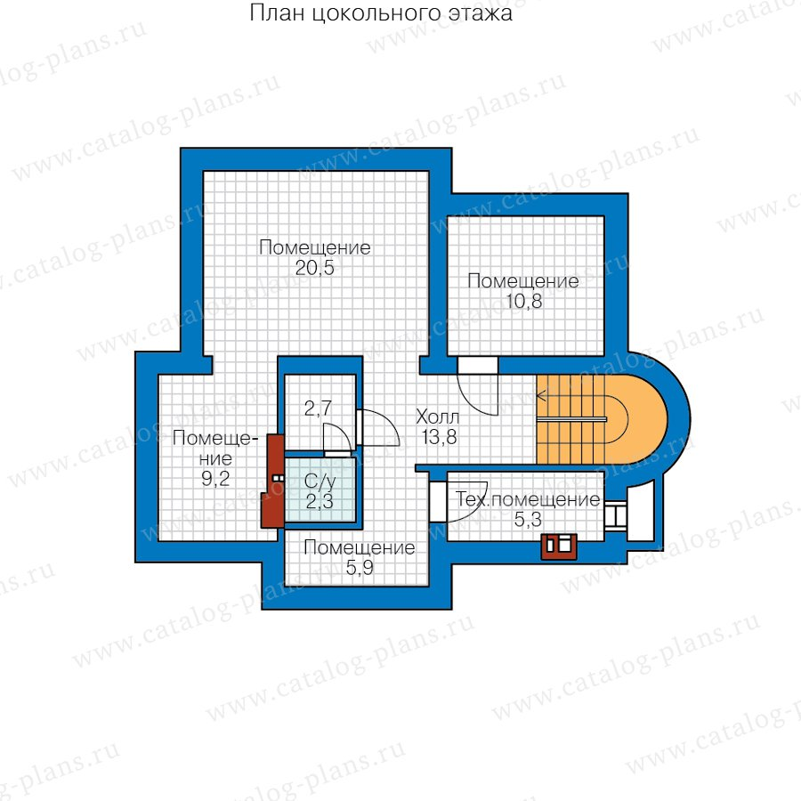 План 1-этажа проекта 40-75CGL