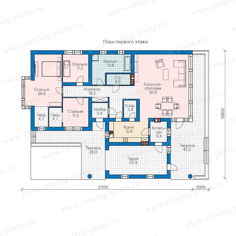 План 1-этажа проекта 62-26
