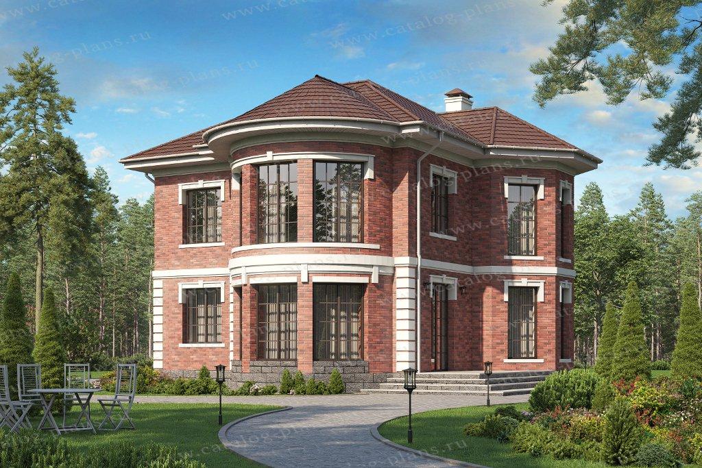 Проект жилой дом #40-75CGL материал - газобетон, стиль