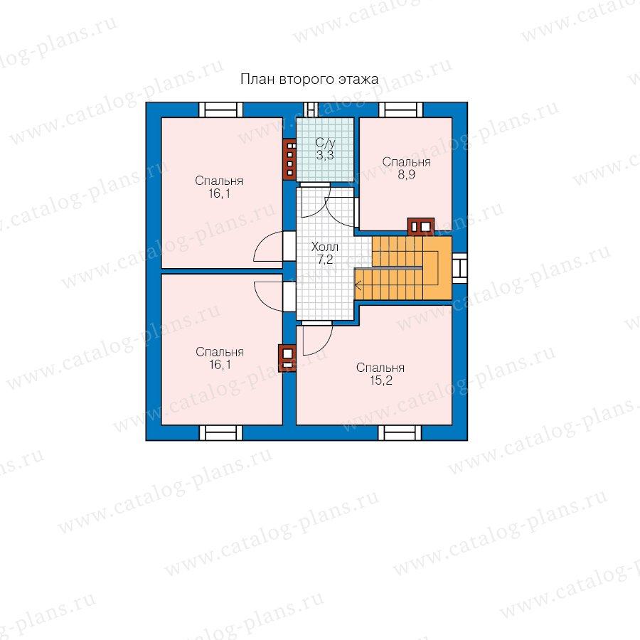 План 2-этажа проекта 40-04D