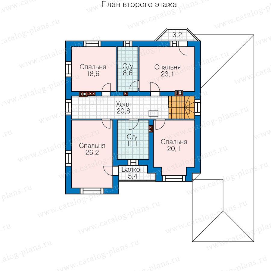 План 2-этажа проекта 45-06L
