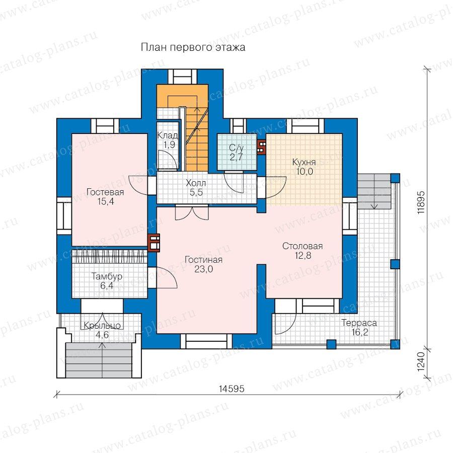 План 1-этажа проекта 45-09GL