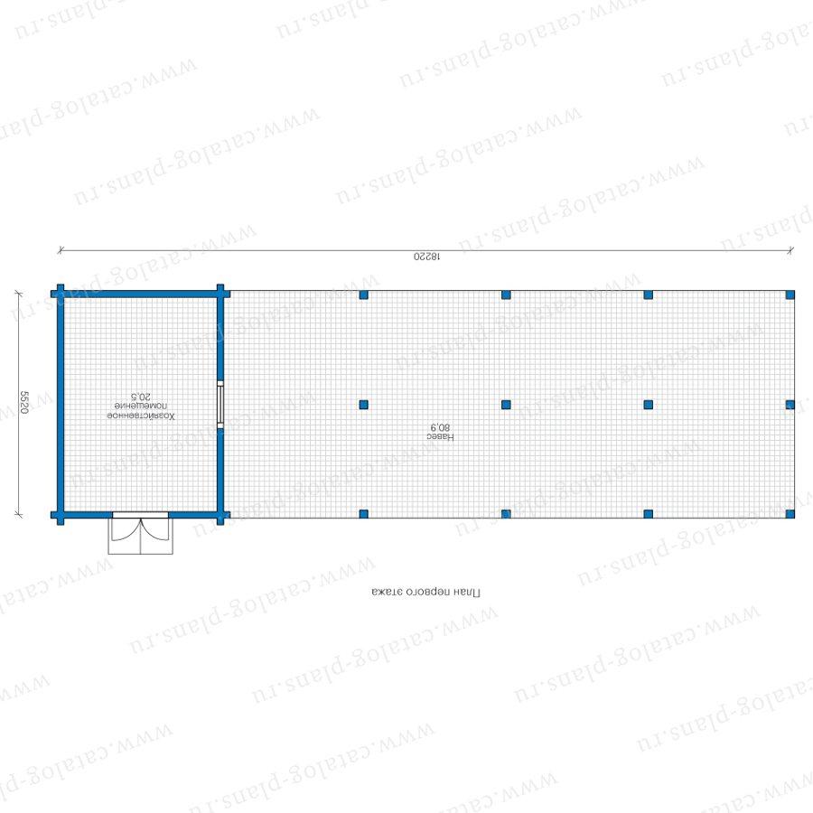 План 1-этажа проекта 90-57