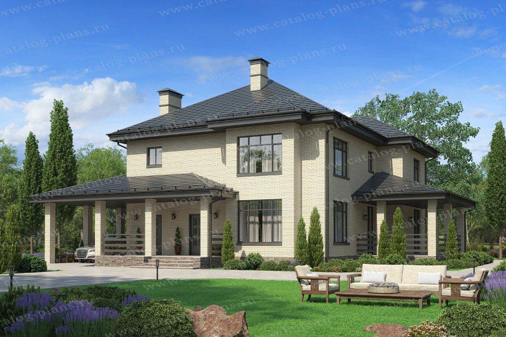 Проект жилой дом #57-39PL материал - газобетон, стиль