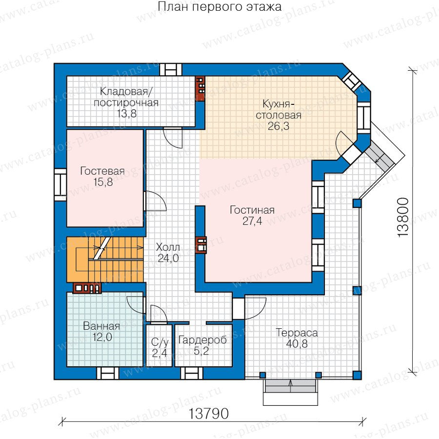 План 2-этажа проекта 57-74H