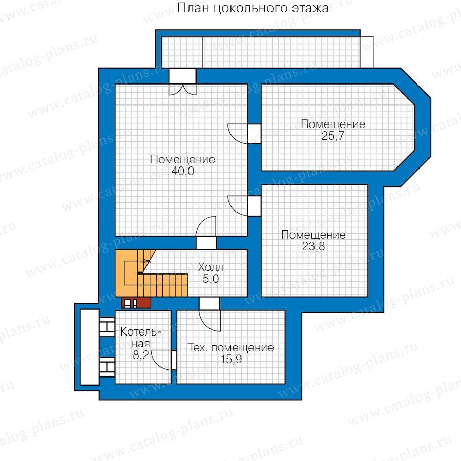 План 1-этажа проекта 57-74H