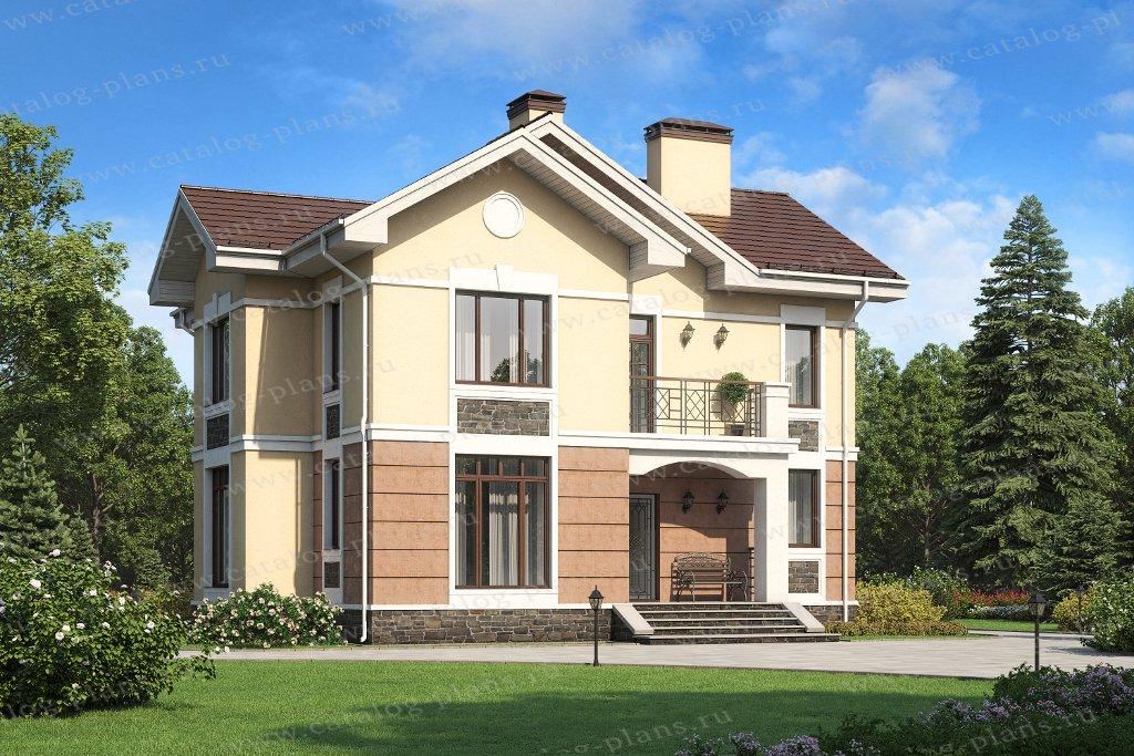 Проект жилой дом #45-17 материал - кирпич, стиль