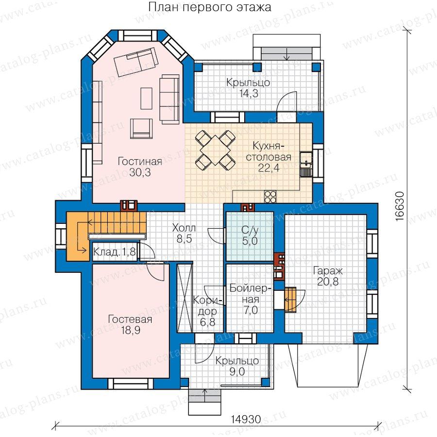 План 1-этажа проекта 45-10